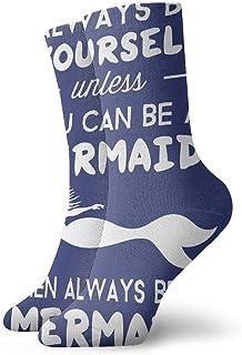 Wdskbg Always Be Yourself Mermaid Classics 30cm Long Socks Athletic Sport Stockings
