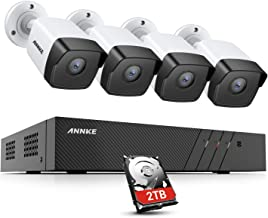 ANNKE 8CH 5MP POE Security Camera System 4 x 5MP Outdoor PoE IP Cameras, H.265+ 8 Channel NVR with 2TB HDD for 7/24 Record...