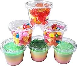 TashiBox 100 Sets 5.5 oz Disposable Plastic Cups with Lids Souffle Cups Portion Cups Dressing Condiment Cups