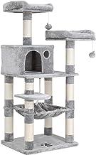 FEANDREA Árbol para Gatos de Varios Niveles, Torre de 143 cm, Gris Claro PCT15W