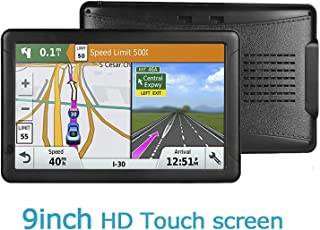GPS Navigation for Car - 9 inch HD car GPS Navigator Capacitive Big Touchscreen, Real Voice Voice Turn Indication Reminder Navigation System, Provide Free Lifetime map Update,