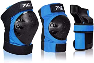 PHZ. Adult/Kids Knee Pads Elbow Pads Wrist Guards 3 in 1...