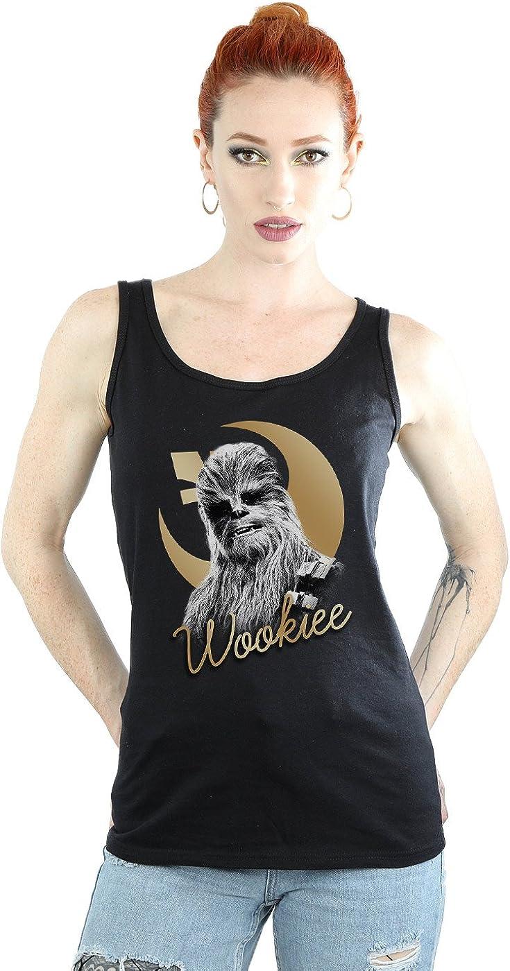 Star Wars Women's The Last Jedi Gold Chewbacca Tank Top X-Large Black