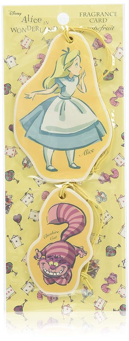 前部信じる遺棄されたアリス フレグランスカード グレープフルーツ (ルームフレグランス 芳香剤 ディズニー)