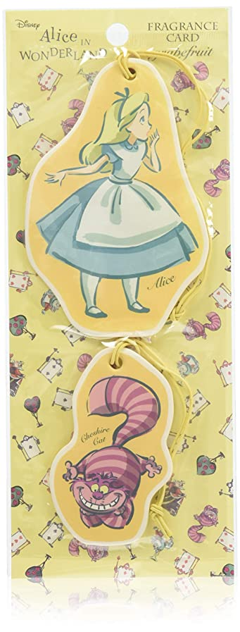 会計きちんとしたリボンアリス フレグランスカード グレープフルーツ (ルームフレグランス 芳香剤 ディズニー)