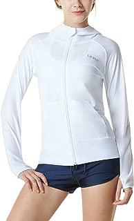 Women's UPF 50+ Full & Half Zip Front Long Sleeve Top Rashguard Swimsuit