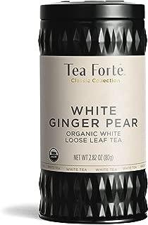 Tea Forté Organic White Tea WHITE GINGER PEAR, 2.82 Ounce Loose Leaf Tea Canister