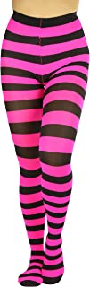 ToBeInStyle Women's Full Footed Wide Striped Tights