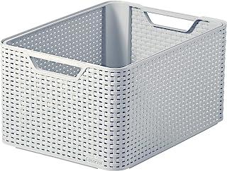 CURVER 246443 Style Grande boîte de Rangement Gris 30 l, Plastique, 30L