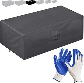 smartpeas Bâche de Protection pour mobilier de Jardin 240 * 140 * 90 cm - revêtement PVC- imperméable/résistante aux UV/in...