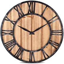 ZXLIADLY European Style Wooden Metal Non-Ticking Quartz Wall Clock Bring You Everything is The Best