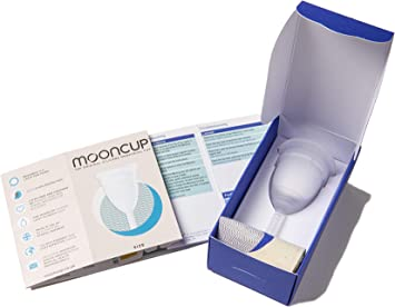 Mooncup - Copa menstrual reutilizable, Transparente - talla A ...