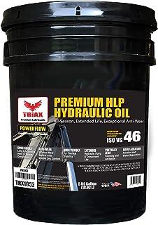 Triax POWERFLOW HLP ISO 46 Medium Hydraulic Oil | 6000 Hr Extended Life | Double Anti-Wear | True All Season | - 40 F Pour Point (5 GAL)