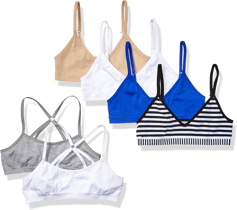Hanes Girls ComfortFlex Fit Bras Variety 6-Pack