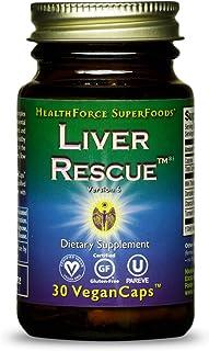 HealthForce SuperFoods Liver Rescue - 30 Count (Pack of 1) Vegan Capsules - All Natural Liver Detoxifier & Regenerator Sup...