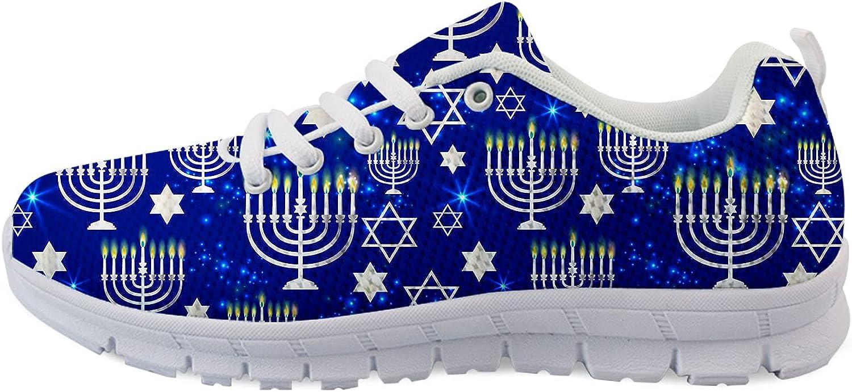 Owaheson Happy Hanukkah Shining Menorah Unisex Adult Max 48% OFF Star Runnin Regular store