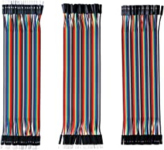 LANIAKEA 120pcs Multicolored Dupont Wire, 30cm Breadboard Jumper Wires 40pin Male to Female, 40pin Male to Male, 40pin Female to Female for Breadboard, Arduino Based, DIY, Raspberry and Robort