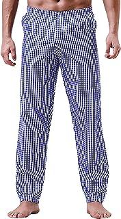 YAOMEI Men's Pyjamas Bottoms Long, Cotton Drawstring Lounge Pants Nightwear Underwear Casual Trousers Elastic Waistband fo...