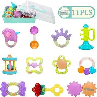 Homejoyi 赤ちゃん 歯がためおもちゃ ガラガラ ラトル ハンドラトル 11PCS ベビー・赤ちゃんのおもちゃ 出産お祝い おしゃぶり プレゼント