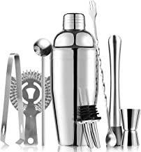 Cocktail Shaker Set, 25 oz/750ml Martini Shaker, Premium Drink Shaker, 9-piece Bartender Kit, Professional Stainless Steel...