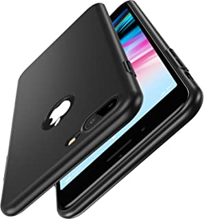 CASEKOO iPhone 8 Plus Case Slim Fit Ultra Thin Case Hard [Scratch Resistant] Great Grip Cover Compatible with iPhone 8 Plus [Shell Series]- Phantom Black