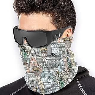 Scarf New York Watercolor Neck Gaiter Magic Headband Balaclava Hood Unisex Mask Bandana Winter Warm Headwear 10960