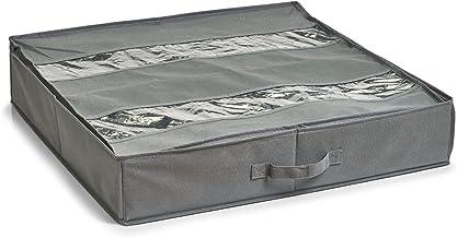 Zeller 14610Zapatos de Caja, Flexible, Papel, plástico, Gris, 60x 60x 13cm
