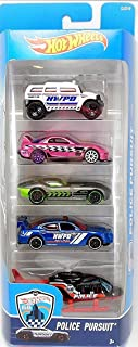 Hot Wheels, 2016 Police Pursuit 5-Pack