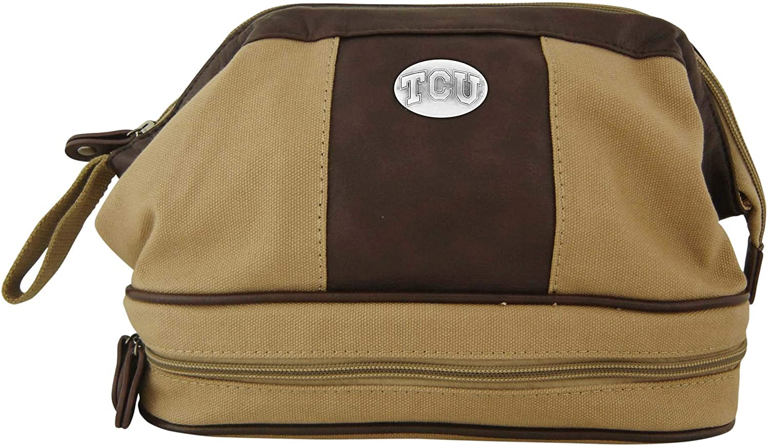 ZEP-PRO Khaki Canvas Toiletry Concho Bag Recommended Max 49% OFF