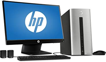 "2018 HP Pavilion 550 Desktop Computer, Intel Dual-Core i3-4170 Processor 3.7GHz, 6GB Memory, 1TB HDD, 23"" Monitor, USB 3.0..."