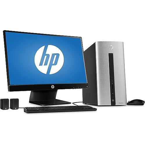 "2018 HP Pavilion 550 Desktop Computer, Intel Dual-Core i3-4170 Processor 3.7GHz, 6GB Memory, 1TB HDD, 23"" Monitor, USB 3.0, Bluetooth 4.0, HDMI, Windows 10 Home (Renewed)"