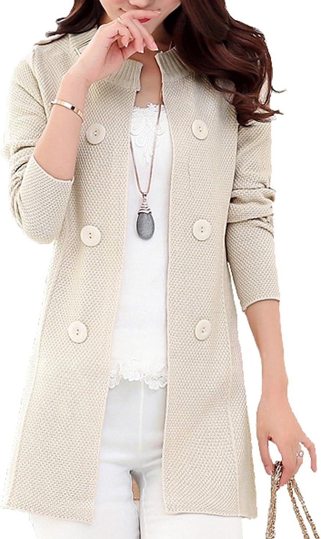 Women's Tops Basic Open Front Knit Cardigan Sweater Coat Jersey Cardigan