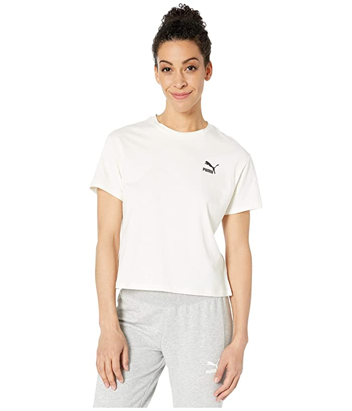 PUMA Flourish Touch of Life Tee (Whisper White/Puma Black) Women