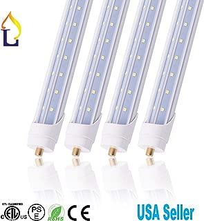 4 Pack LED T8 6 Feet Tube Lamp Ballast Bypass 6FT Fa8 Base (Single pin) 40W White daywhite Led T8 V Shape Tube Light,Under Cabinet Lamp Fluroscent Replacement