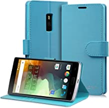 OnePlus 2 Leather Wallet Case - VENA [vSuit] Draw Bench PU Leather Wallet Flip Cover with Stand and Card Slots for OnePlus Two - Electric Blue