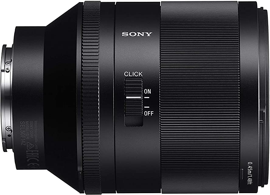 Sony Zeiss SEL50F14Z - Objetivo para cámara (50 mm con montura E SSM apertura circular 11 láminas) color negro