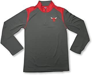OTS Chicago Bulls Mens Lightweight 1/4 Zip Dri Fit Pullover Small