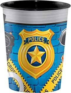 Creative Converting 329396 Police 12-Count Plastic Keepsake Party Cups