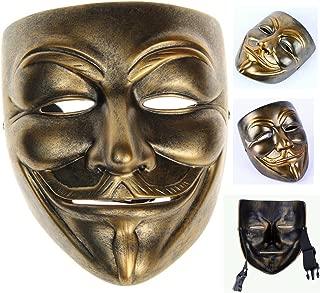 Gmasking Bronze Resin V for Vendetta Guy Fawkes Anonymous Mask+Gmask Keychain