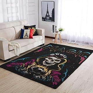 OwlOwlfan Tapis de sol magique confortable et durable pour intérieur ou extérieur - Blanc - 122 x 183 cm