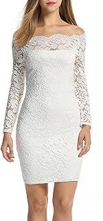 Women Off Shoulder Floral Lace Party Dress