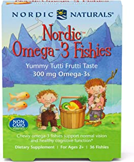 Nordic Naturals Nordic Omega-3 Fishies, Tutti Frutti - 36 Fishies - 300 mg Total Omega-3s with EPA & DHA - Healthy Brain, ...