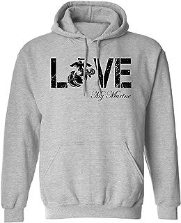 Love My Marine Hooded Sweatshirt in Sport Gray
