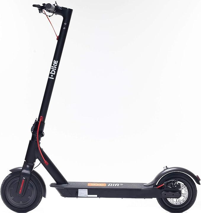 monopattino elettrico unisex adulto, nero, unica i-bike mono air s b087xlmxvp