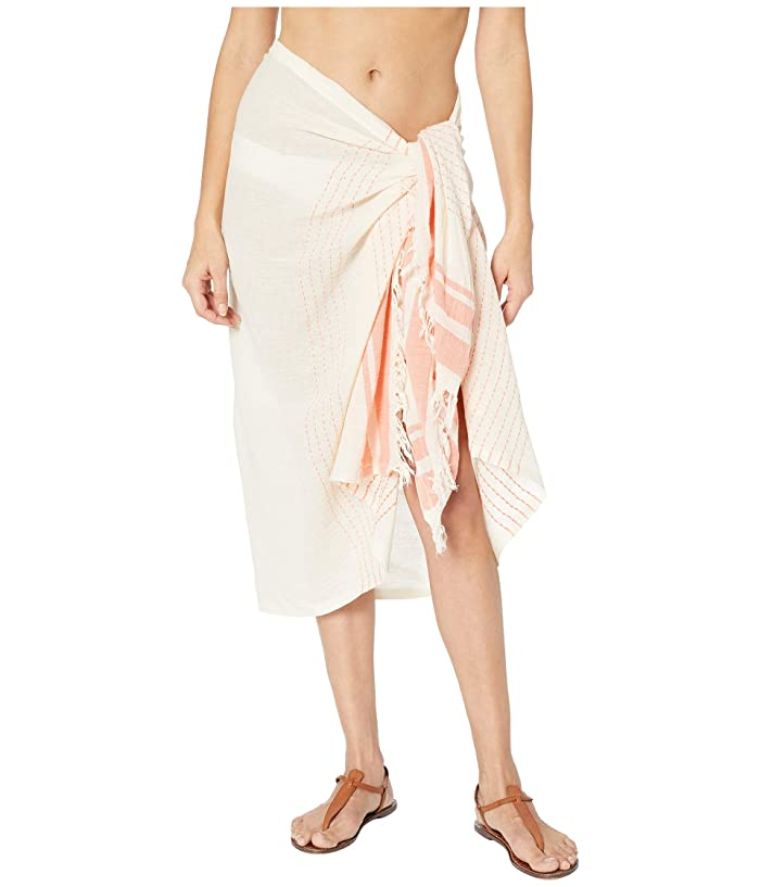 Hat Attack  Avery Stripe Sarong (Coral) Scarves