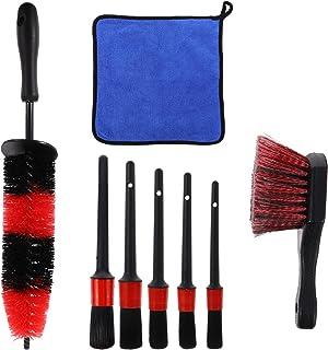 CLISPEED 8Pcs Kit Escova Pneu Escova De Limpeza Da Roda E Aro Da Roda de Carro Escova de Limpeza de Microfibra Detalhament...