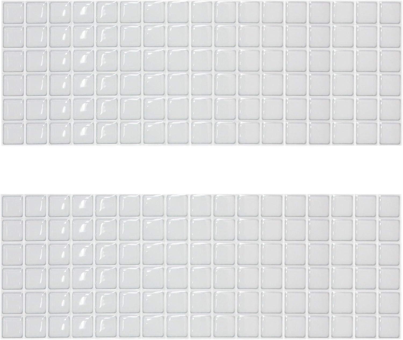 Beaustile Mosaic 3D Wall Sticker Home Decor S White Fire Retardant Backsplash Wallpaper Bathroom Kitchen DIY Design