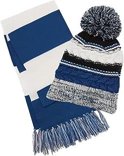 Women's College Spirit Hat and Scarf 2 Piece Set
