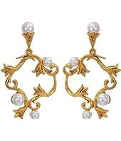 Oscar de la Renta - Pearl Tulip P Earrings