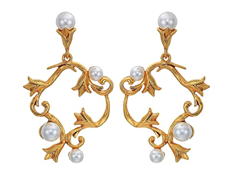 Oscar de la Renta Pearl Tulip P Earrings
